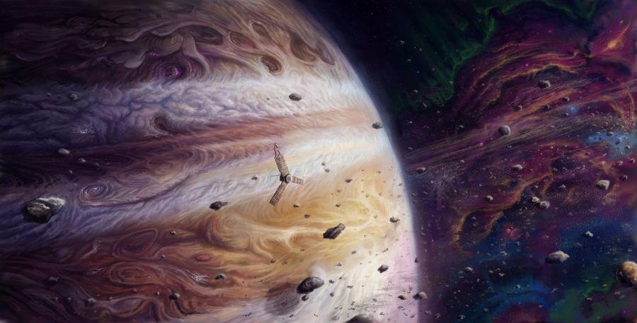 Юпитер серігімен соқтығысып, оны