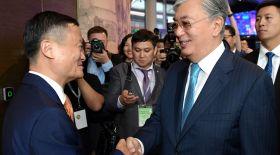 Қазақстан Президенті қытайлық кәсіпкер Джек Мамен кездесті