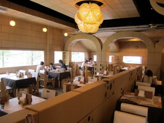 Тайваньда картоннан жасалған мейрамхана ашылды