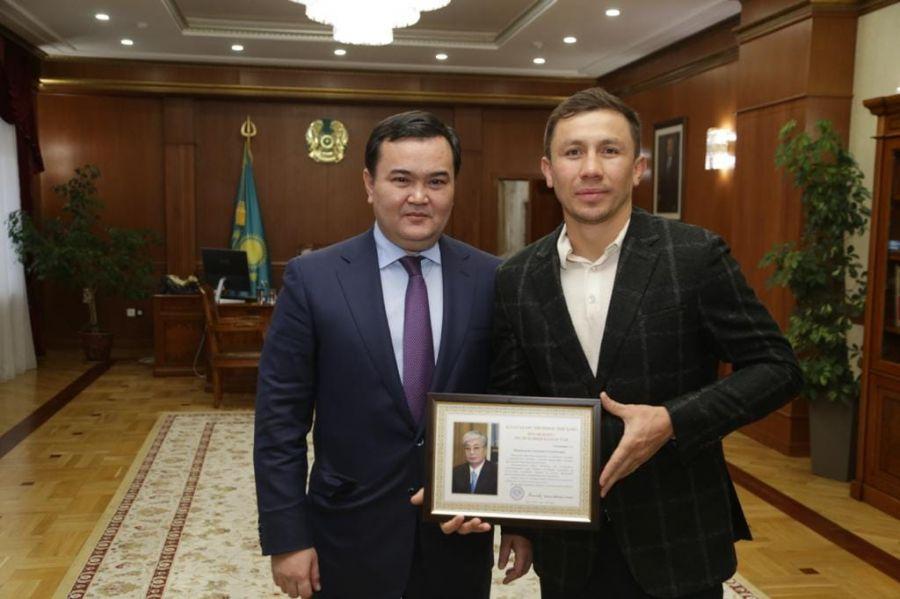 Головкин Қарағанды облысы әкімімен кездесті