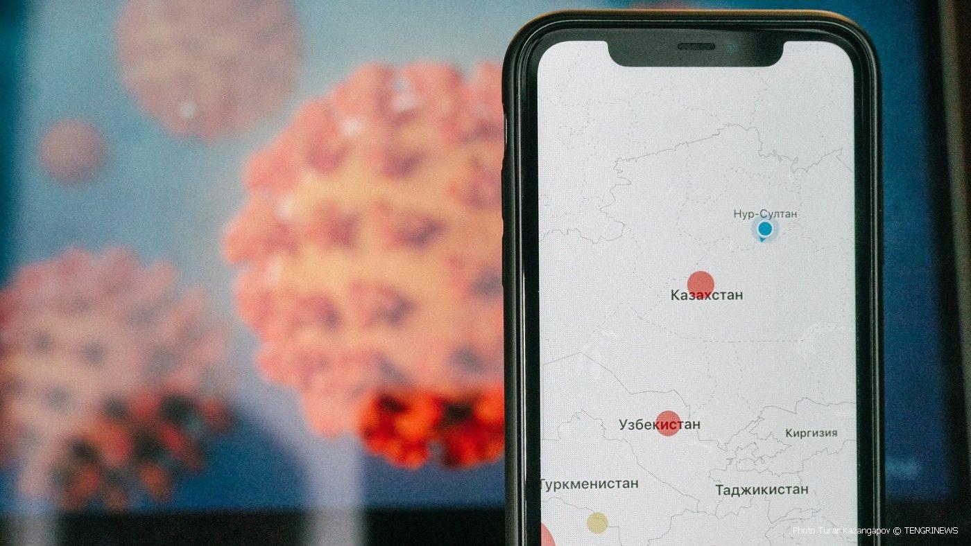 Қазақстандағы коронавирус қаупі жоғары аймақтардың картасы