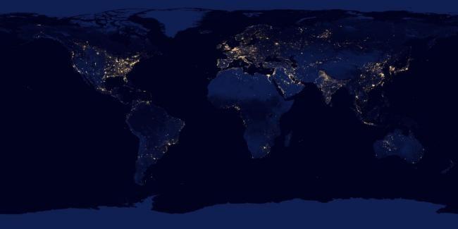 NASA Жердің түнде түсірілген суреттерін жариялады