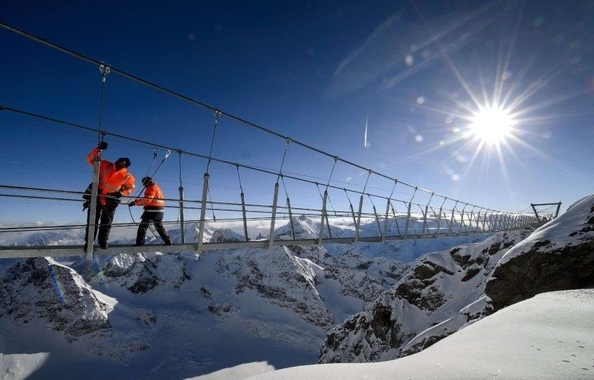 Альпі тауларының үстінен ерекше көпір салынды