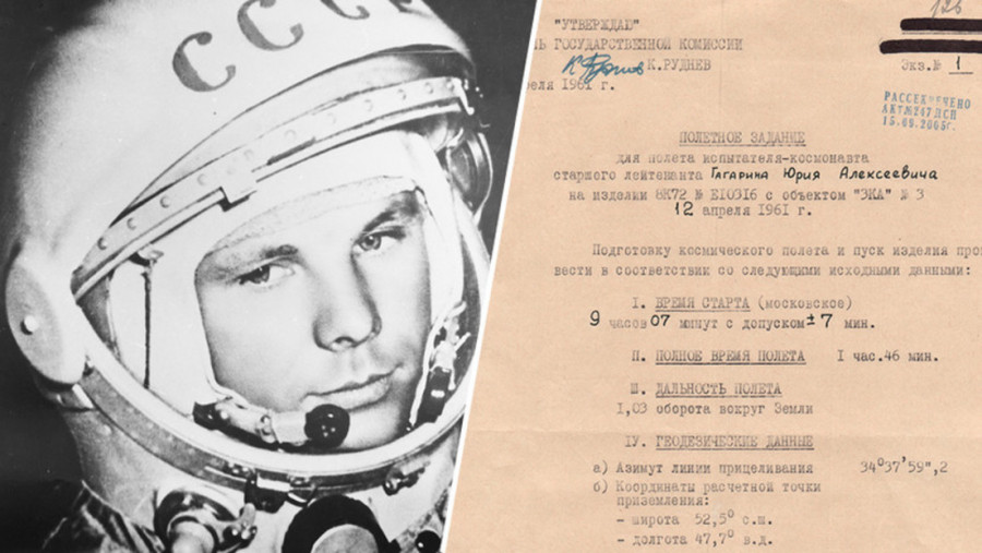 Юрий Гагарин жайлы құпия құжаттар жарияланған сайт ашылды