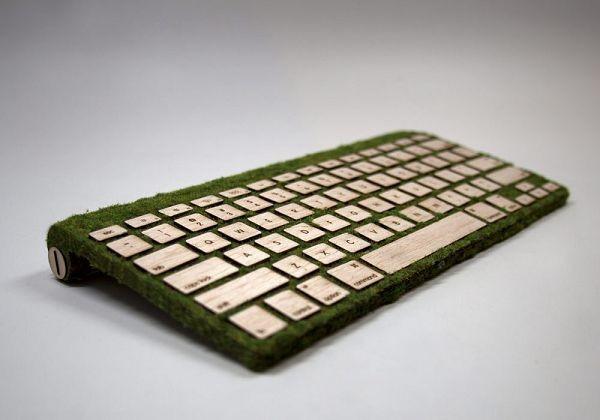 Apple ұсынған ағаш пен теріден жасалған пернетақта