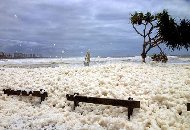Аустралия теңіз көбігінің астында қалды