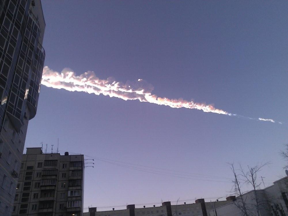 Челябинскіде жарылған метеорит Қазақстанның үстінен ұшып өтті