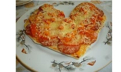 Мәзір: Жүрек-пицца