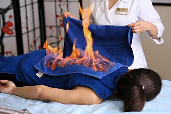 Әжімге қарсы отты-массаж