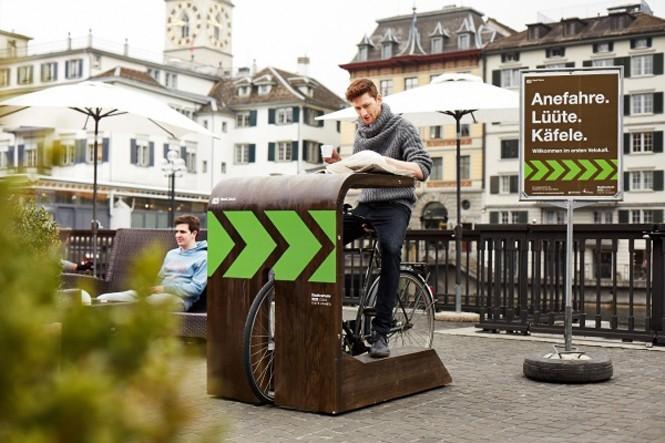 Швейцариядағы велокафе