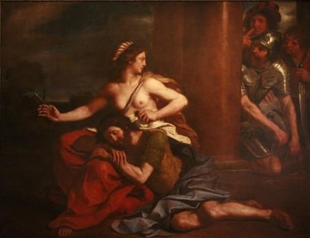 Самсонның шашын қырқып жатқан Делила