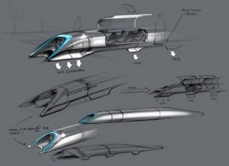"""""""Тесла"""" ұсынған өте жылдам поезд"""