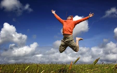 Радуга девушка счаться радость прыжок скачать