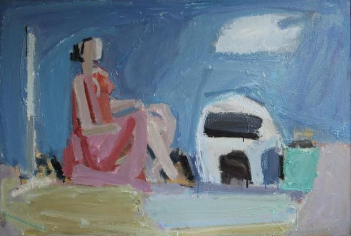 Девушка у очага 2011  х.м. 95Х142
