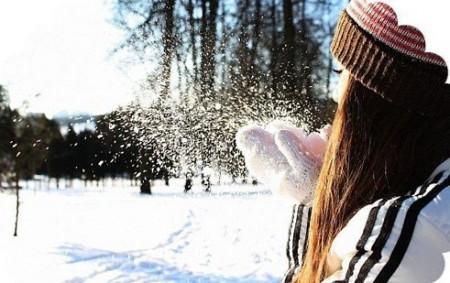 Фото брюнеток на аву зима девушка 110