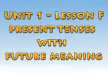 Ағылшын тілін үйрену сабақтары. Present tenses with future meaning