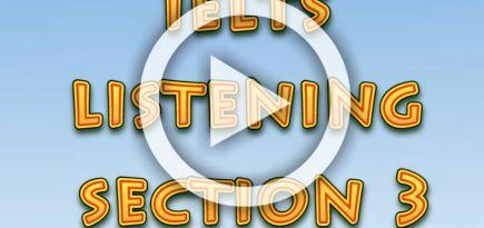 Ағылшын тілін үйрену сабақтары. IELTS. Listening, section 3