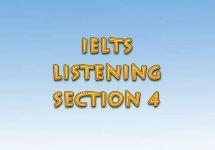 Ағылшын тілін үйрену сабақтары. IELTS. Listening, section 4